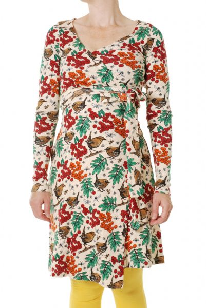 Duns Wrap Dress Rowanberry Mother of Pearl